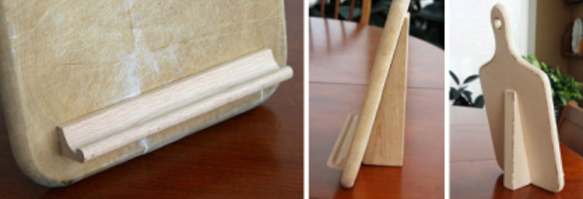 Chopping board iPad holder 3